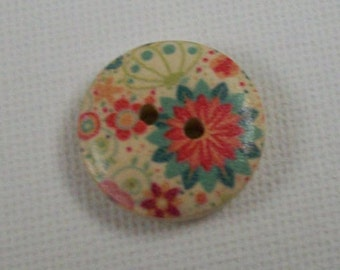 6pk, 18mm Buttons, Wood Buttons,  Sewing Notions, 2 Hole Buttons, Decorative Buttons, Knitting, Crafts, Scrapbooking