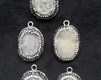 Wholesale silver DRUZY pendants, Buy 5 pay 4, 5 pendants together sale. promotion!