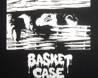 Basket Case - PATCH canvas screen print HORROR - Frank Henenlotter / Belial gore