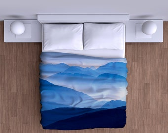 Dreamy Blue Mountains Duvet Cover - Super Soft Duvet