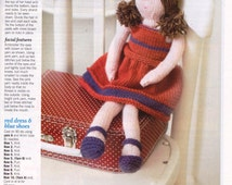 Knitted Doll Pattern in Craft Magazine, with Patterns for Christmas Craft, Cards, Christmas Decorations, Christmas Angel, Christmas Wreath