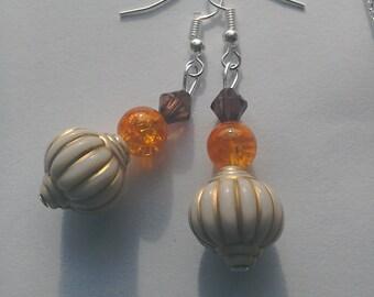 Vintage style fishhook earrings