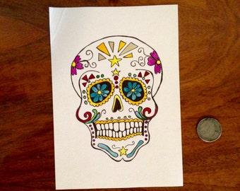 Sugar Skull 5x7 #1