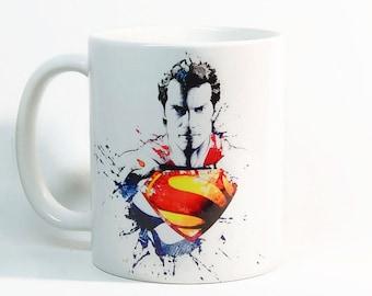 Superman coffee mug, Superman mug Gift mug, Coffee Cup, Tea Cup, Gift for her, Gift for him, Printed mug, Ceramic mug