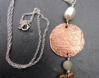 Copper Shipwrecked Coin Pendant