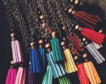Tassel Necklace, Kids Tassel Jewelry, Bohemian Kids Jewelry, Toddler Necklace, Kids Jewelry, Bohemian Kids Birthday Favors, Tassel Jewelry