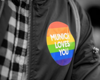 Munich loves you, rainbow, gay, queer, equal rights, LGBT, color