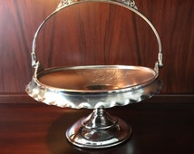 Gorgeous Aesthetic Victorian 1880s Pairpoint Silver Plate Brides Cake Basket