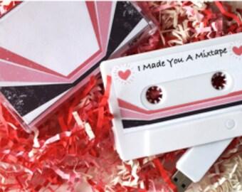 Valentines Day Mixtape USB Flash Drive 8GB