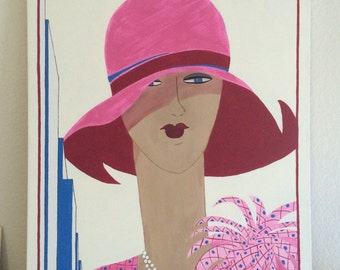 May 1927 Vogue UK Cover on Canvas