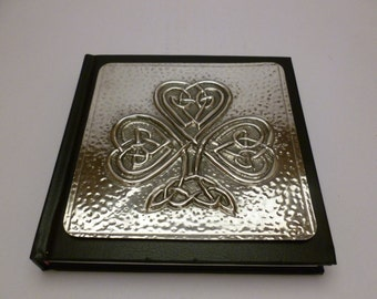 Celtic Knot Shamrock Journal with Pewter Detail