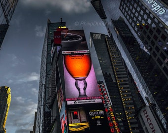 Times Square, New York, Manhattan, USA, Broadway, american ad, fine art color photography, twilight, modern american architecture,