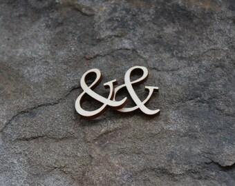 "One 1"" High Ampersand Cutout, Wooden Ampersand Cutout, Wedding Scrapbook Embellishments, DIY Guestbook Embellishments, & Cutout, Ampersand"
