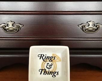 Jewelry Dish | Ring Dish |  Rings & Things