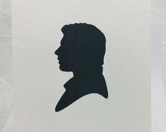 "Han Solo Star Wars Inspired Cut Paper Silhouette Portrait 8"" x 10"" Cut Out Art Portraits"
