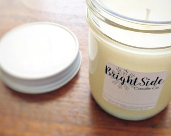 Rosemary + Mint Soy Candle | 8 ounces | All- natural