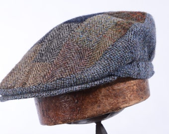 Handmade Patchwork Harris Tweed Flat Cap