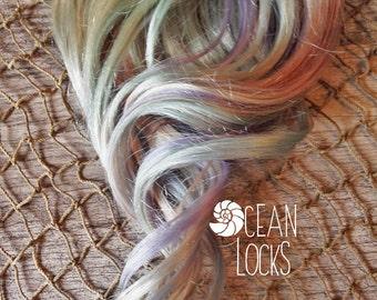 Opal Hair Extensions, Hair extensions clip in, Opal Highlights, Pastel hair , Aqua Hair, Lavender Hair, Pink Hair, Mermaid Hair, Silver Hair