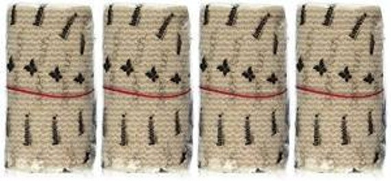 """GT 4"""" Cotton Elastic Bandage with Velcro Closure on both ends, 4 inches wide x (13 to 15 ft. when stretched), 4 Pack"""
