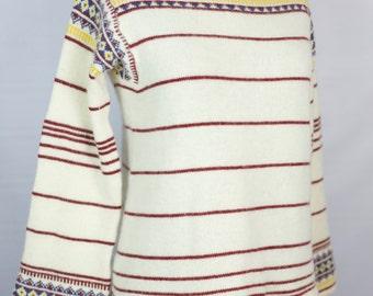 VINTAGE 70s Vivenne cream lambswool sweater