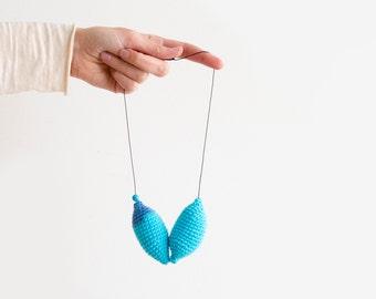 Minimalist Jewelry Crochet Necklace. Crochet Jewelry, Minimalist Necklace