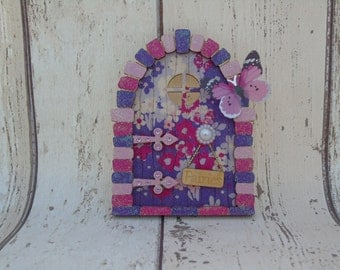 Fairy Door Purple Blossom