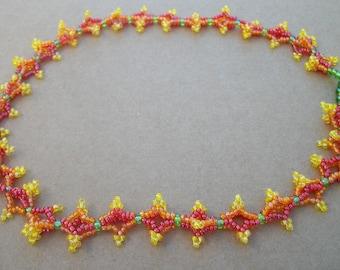 Summer Blooms florette beaded necklace