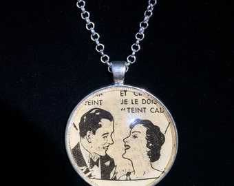 1930s French Newspaper Necklace