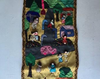Vintage Handmade Wall-Hanging for Kids Room / Nursery
