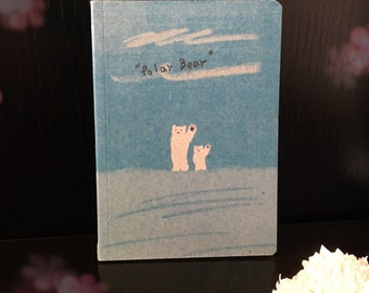 Polar Bear Notebook/ Paper / To-do list / Shopping list / Notepad / Stationery / Diary / Office / Desk / School