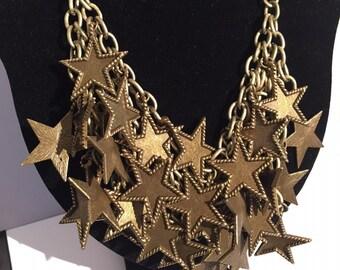 Bronze Chain Star Neckace