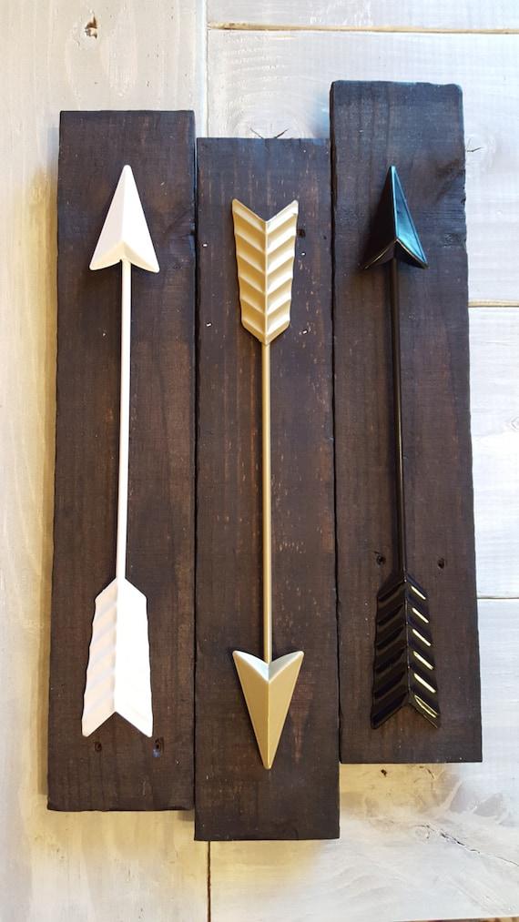 Arrows For Wall Decor : Arrow wall decor metal arrows on reclaimed by
