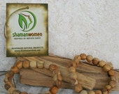 Palo Santo Wood Bracelet •• FREE SHIPPING •• Energy Clearing-Protection -Ritual-Space Clearing-Aura Clearing