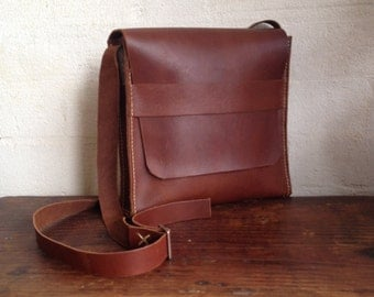 Leather Satchel/Bag - hand stitched, hand cut, handmade