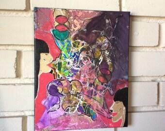 Friendship 'Communication' Modern Acrylic original canvas painting
