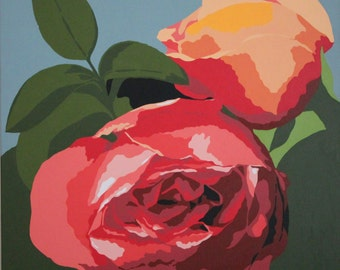 Rose garden, Rose garden prints, Rose garden art, Rose garden poster, Home decor, Hotel prints, Decor art, Decor prints, Kitchen decor