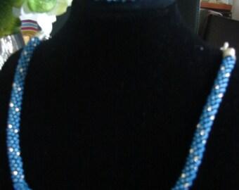 Kumihimo Swarovski Crystals Necklace and Bracelet Set