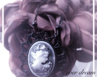 Grey Lady Cameo Necklace