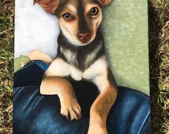 12x16 Custom Pet Portrait Painting