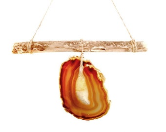 Agate Wall Hanging Sandy Brown