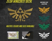 Zelda Decal - Wingcrest Decal - Sticker - The Legend of Zelda - Hylian - Triforce Decal