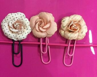 Flower paper clip treo set