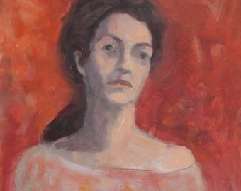 European oil painting woman portrait