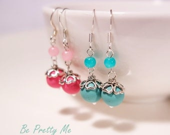 Earring Set. Glamorous Polymer Clay Dangle Earrings. Vibrant and happy colours