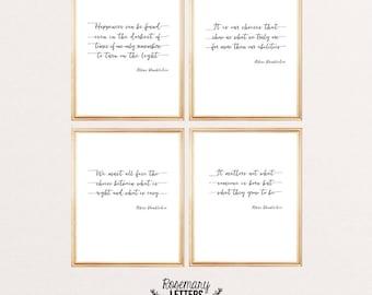 Set of 4 Dumbledore Quote Prints 8x10 Printable, Albus Dumbledore Quote, Harry Potter Quote, Harry Potter Printable