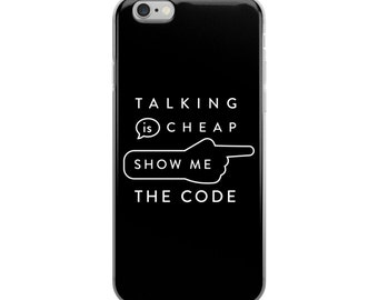Show Me The Code iPhone 6 Case - iPhone 6 case - iPhone plus - 6s plus - Gift for programmer - Coder - Developer - Black case - White case