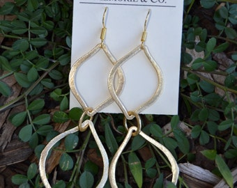 Gold Double Marque Earrings