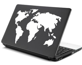 World map decal laptop etsy world map decal sticker laptop premium vinyl decals stickers apple mac pro air handmade gifts gumiabroncs Choice Image