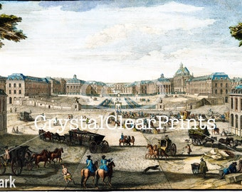 A View of the Palace of Versailles Giclee Art Print