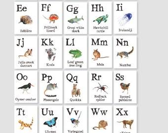 A to Z alphabet cards